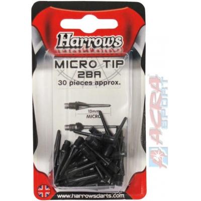 ACRA Náhradní hroty k šipkám HARROWS Micro sada 30ks T93 2 barvy