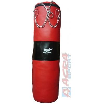 ACRA Pytel boxovací 1,2 m kožený 34kg s řetězy k zavěšení Brother 2 barvy