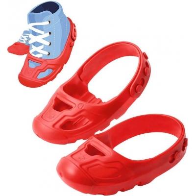 BIG Ochranné dětské návleky na botičky vel.21-27 protiskluzové červené 1 pár