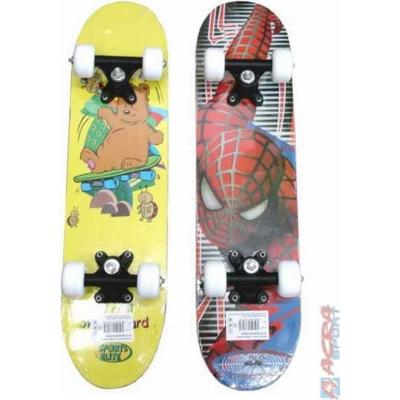 ACRA Skateboard dětský dřevo plast soft do 30 kg 2 druhy