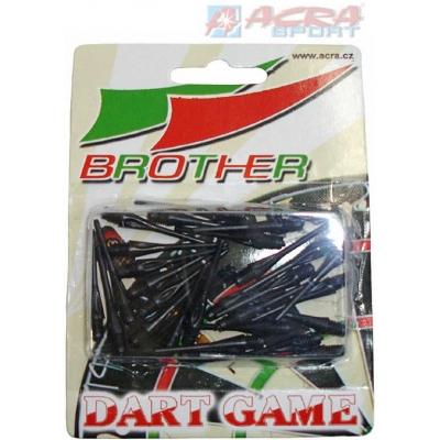 ACRA Náhradní plastové hroty k šipkám Brother set 30ks TA5 2 barvy