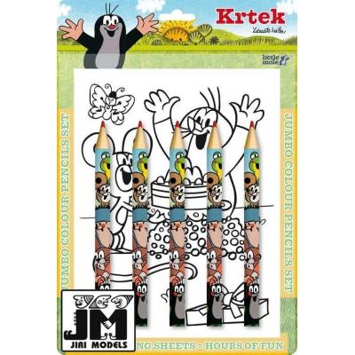 JIRI MODELS Pastelky maxi set KRTEK omalovánky Krteček