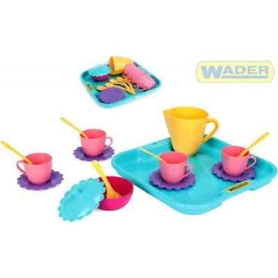 WADER Dětská sada nádobí set kuchyňský párty tác s doplňky 17ks 22030 PLAST