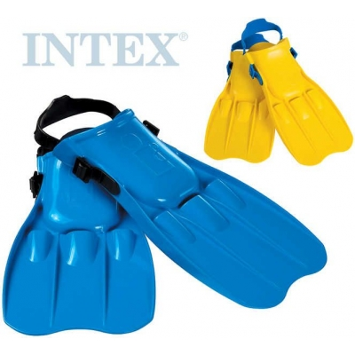 INTEX Ploutve potápěčské do vody vel. M (EU 38-40) 2 barvy 24-26cm plast