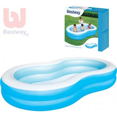 BESTWAY Bazén Laguna velká 162x157x46cm 2 komory modrý 54117