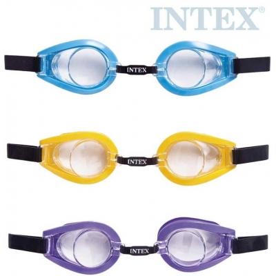 INTEX Plavecké brýle dětské 3-10 let na plavání do vody 3 barvy