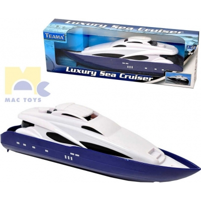 MAC TOYS Člun motorový Sea Cruiser plastová loďka 1:48 model kov
