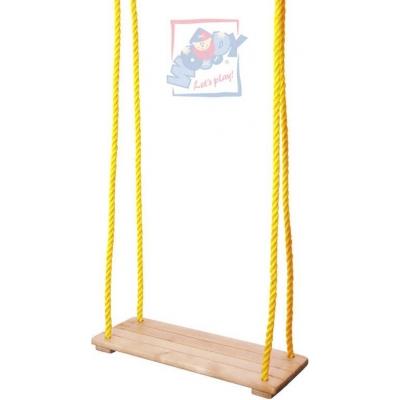 WOODY DŘEVO Houpačka jednoduchá závěsné sedátko prkénko na houpání