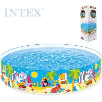 INTEX Bazén samonosný Pláž 244x46cm kulatý 58457
