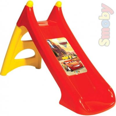 SMOBY Skluzavka baby klouzačka dětská XS 90cm Cars (Auta) s vlhčením