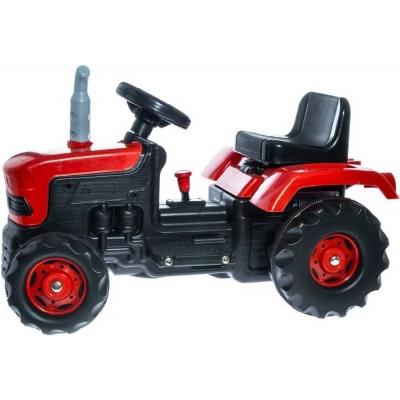 Traktor farmářský elektrické dětské vozítko 6V červený plast Světlo Zvuk