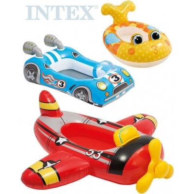 INTEX Člun dětský nafukovací auto / letadlo / ryba do vody 3 druhy