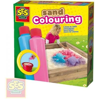 SES CREATIVE Barvy na písek set 2 tuby 2x200ml modrá + růžová