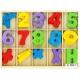 DŘEVO Počítání sada barevné číslice se znaménky v krabičce s přihrádkami