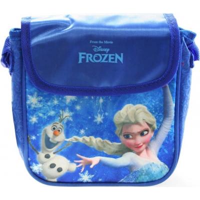 Taštička Frozen (Ledové Království) dětská kabelka s popruhem lesklá modrá