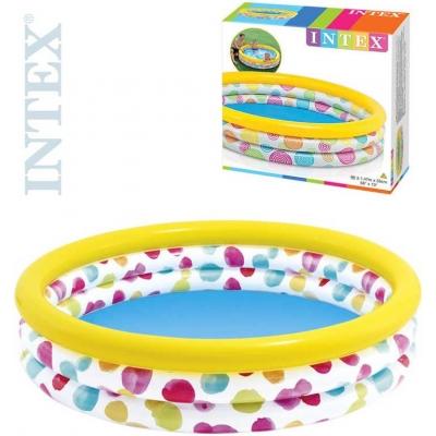 INTEX Bazén nafukovací kruh 147 x 33 cm na vodu 2 druhy