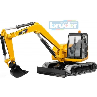 BRUDER 02456 (2456) Minibagr Caterpillar pásový funkční model 1:16 plast