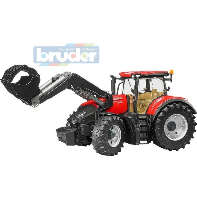 BRUDER 03191 (3191) Traktor CASE IH Optum 300 CVX čelní nakladač funkční model
