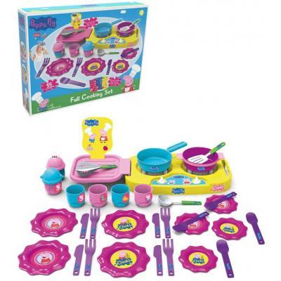 MAC TOYS Dětské barevné nádobí prasátko Peppa Pig set s vařičem 35ks plast