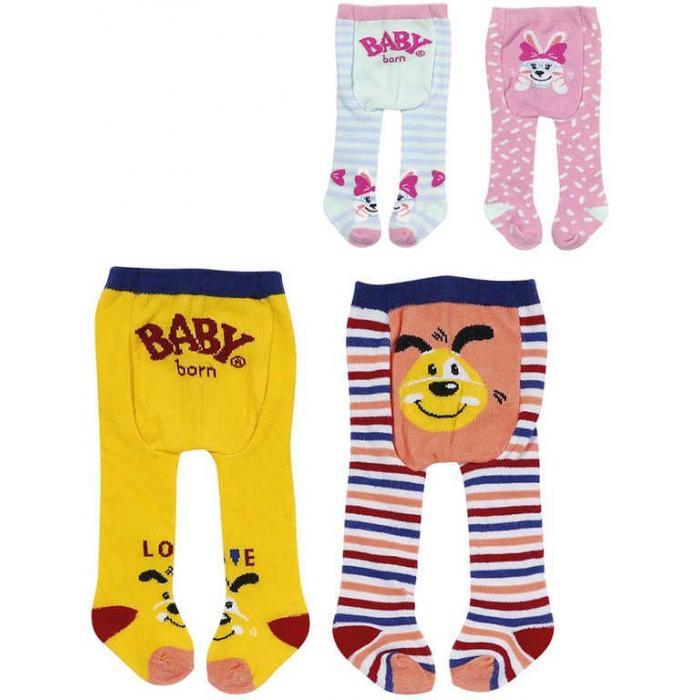 ZAPF CREATION Baby Born punčocháče 2 páry pro panenku miminko 2 druhy