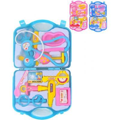 Souprava doktorská dětské lékařské potřeby v kufříku plast 3 barvy