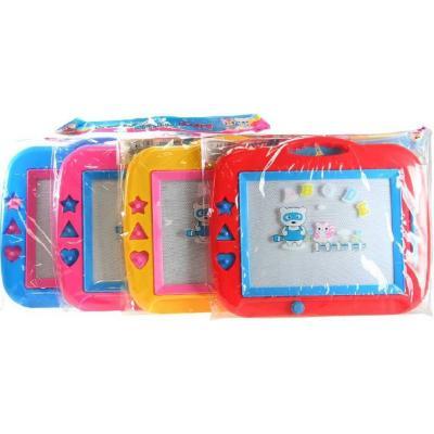 Tabulka dětská magnetická set s razítky a kouzelným perem 4 barvy plast