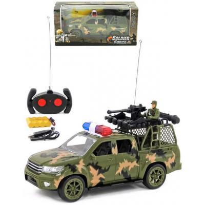 RC Auto vojenské 31cm na vysílačku 27MHz na baterie 2 barvy