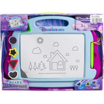 Tabulka dětská magnetická set s 5 razítky a kouzelným perem plast