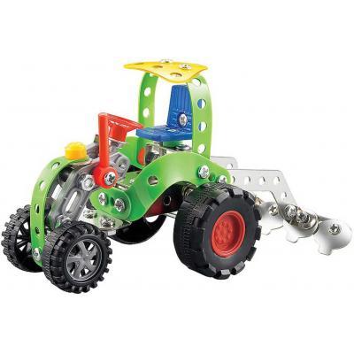 Šroubovací stavebnice kovová traktor 122 dílků s nástroji v krabici