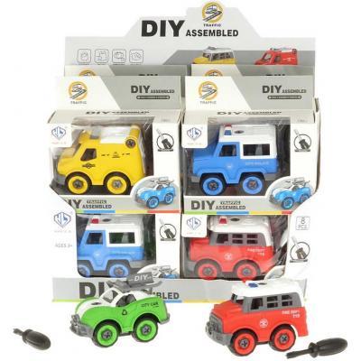 Auto montážní šroubovací set s nástrojem různé druhy plast v krabici