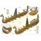 MERKUR Age of Vikings 40 modelů 1350 dílků KOVOVÁ STAVEBNICE