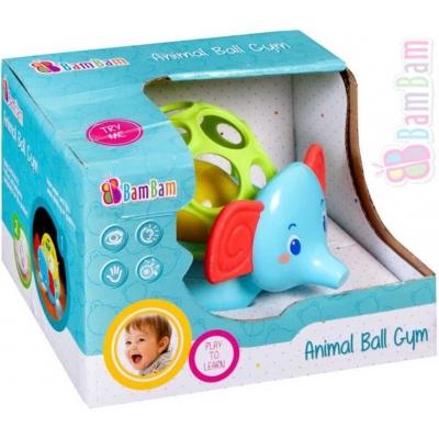ET BAM BAM Baby Koule zábavná na baterie Slon pro miminko Světlo Zvuk