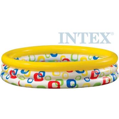 INTEX Bazén dětský kulatý s potiskem nafukovací 168 x 41cm