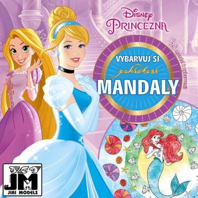 JIRI MODELS Omalovánky Vybarvuj si mandaly Disney Princezny