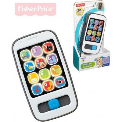 FISHER PRICE Baby telefon chytrý CZ s melodiemi na baterie pro miminko Světlo Zvuk
