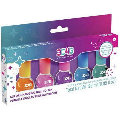 MAKE IT REAL Dětské laky na nehty měnící barvu set 5ks v krabici