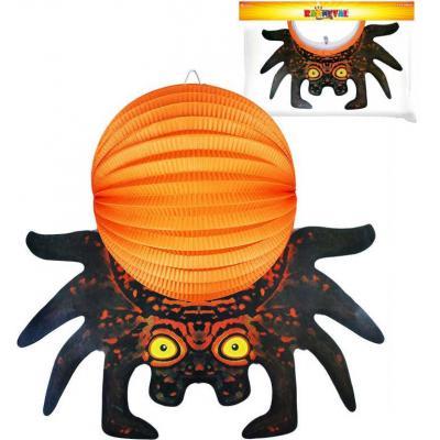 Lampión krčený papírový 3D Halloween pavouk 25cm na svíčku