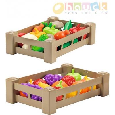 ECOIFFIER Přepravka set bedýnka s ovocem / zeleninou baby 2 druhy plast
