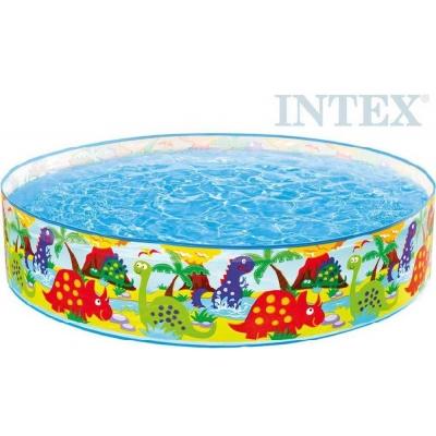 INTEX Bazén dětský samostatný pravěk 122x25cm Dinosauři kruh 58474
