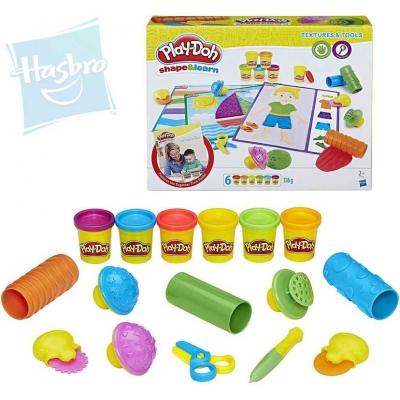 HASBRO PLAY-DOH Modelína snídaňový set 6 kelímků s nástroji a doplňky