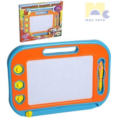 MAC TOYS Tabulka dětská magnetická set s razítky a kouzelným perem plast
