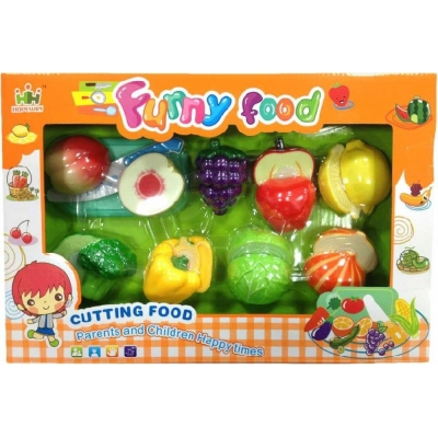 Kuchyňská krájecí sada ovoce a zelenina na suchý zip s nožíkem a doplňky plast