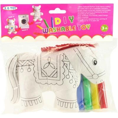 Vymaluj si svého koníka kreativní set malovací kůň + 4 fixy v sáčku