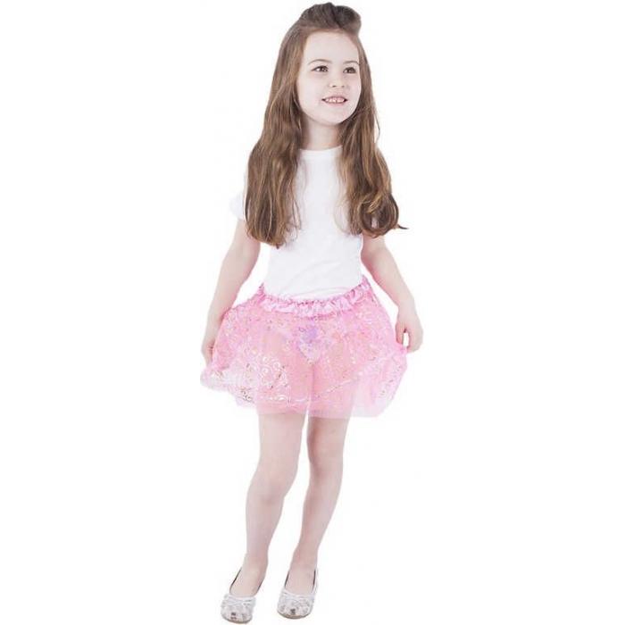327405071edf KARNEVAL Sukně TUTU růžová s dekorem (104-150 cm) 3-10 let KOSTÝM