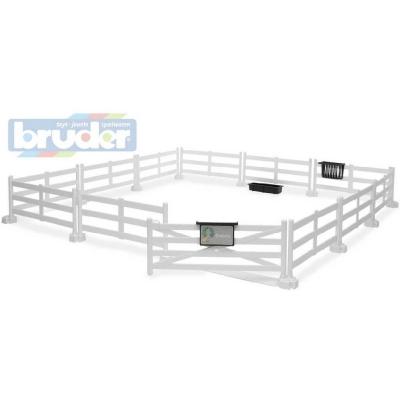BRUDER 62504 Bworld Ohrada na zvířata bílá