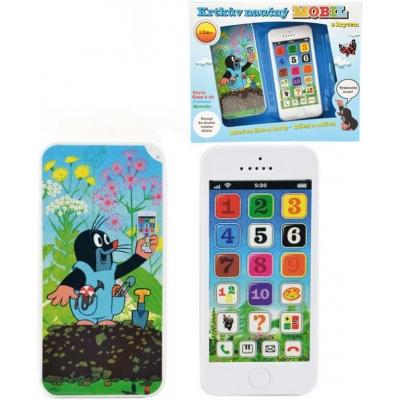 Krtkův mobil telefon dětský naučný dotykový Krtek (Krteček) na baterie Zvuk