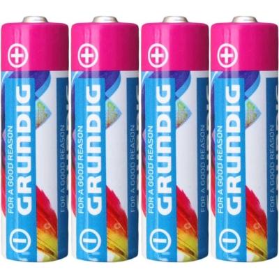 Baterie AA alkalická tužková LR6 1,5V set 4ks na kartě Grundig