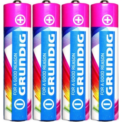 Baterie AAA alkalická tužková LR03 1,5V set 4ks na kartě Grundig