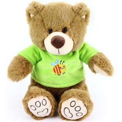 PLYŠ Medvídek v triku 26cm hnědý *PLYŠOVÉ HRAČKY*