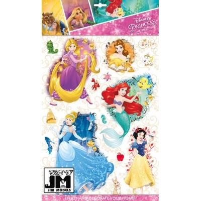 JIRI MODELS 3D Samolepky dětské na zeď Disney Princess